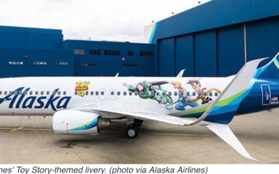 Alaska Airlines Unveils Toy Story-Themed Livery